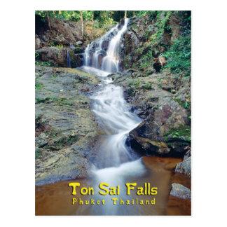 Ton Sai Waterfall, Phuket, Thailand Postcard