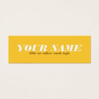 Tonal Yellow Ochre Calling Card