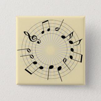 Tones 2 Inch Square Button