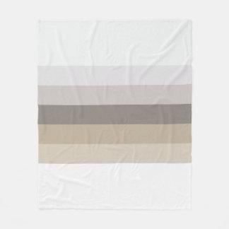 Tones of Brown Stripes Fleece Blanket