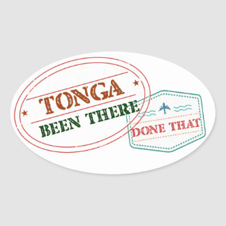 Tonga Been There Done That Oval Sticker