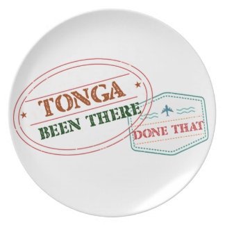 Tonga Been There Done That Plate