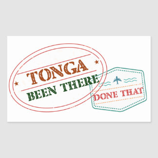 Tonga Been There Done That Sticker