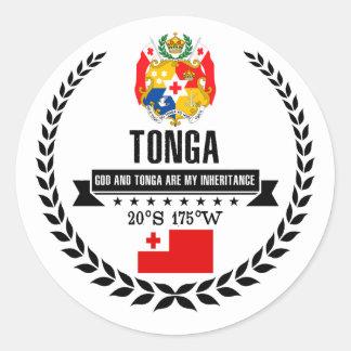 Tonga Classic Round Sticker