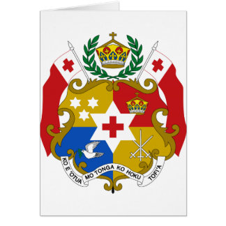 Tonga Coat of Arms Card