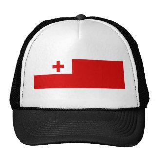 tonga country long flag nation symbol trucker hat
