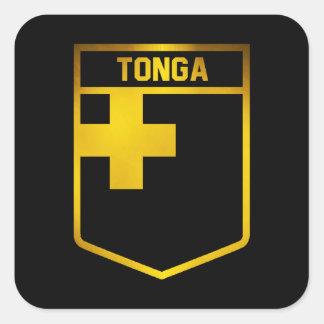 Tonga Emblem Square Sticker