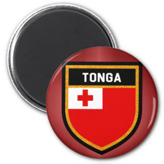 Tonga Flag 2 Inch Round Magnet