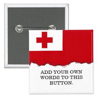 Tonga Flag 2 Inch Square Button