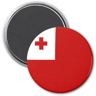 Tonga Flag 3 Inch Round Magnet