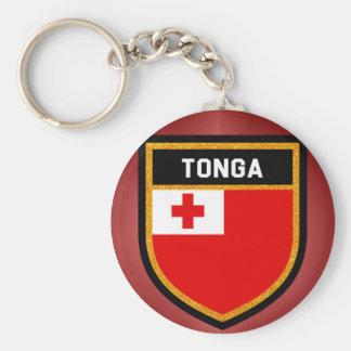 Tonga Flag Basic Round Button Keychain