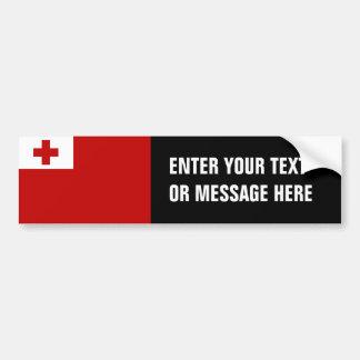 Tonga Flag Bumper Sticker