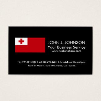 Tonga Flag Business Card
