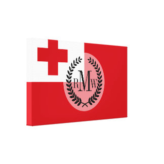 Tonga Flag Canvas Print