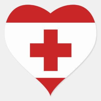 Tonga Flag Heart Sticker