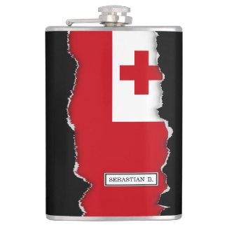 Tonga Flag Hip Flask