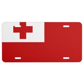 Tonga Flag License Plate