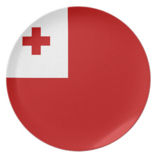 Tonga Flag Party Plate