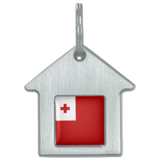 Tonga Flag Pet ID Tags