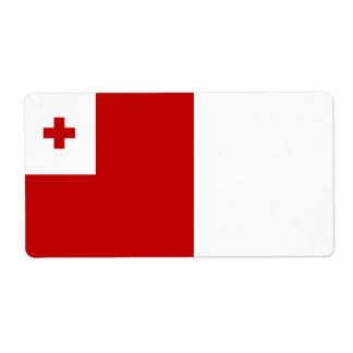 Tonga Flag Shipping Label