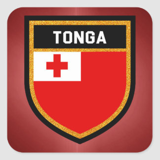 Tonga Flag Square Sticker