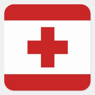 Tonga Flag Square Sticker