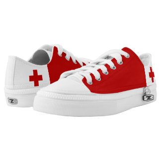 Tonga Flag Tongan Low-Top Sneakers