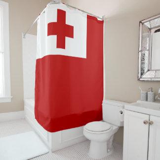 Tonga Island Flag Red Cross