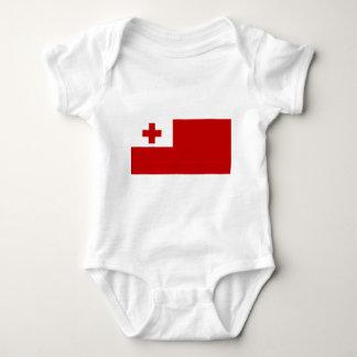 Tonga Island Flag Red Cross Baby Bodysuit