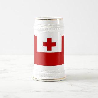 Tonga Island Flag Red Cross Beer Stein