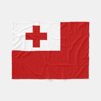 Tonga Island Flag Red Cross Fleece Blanket