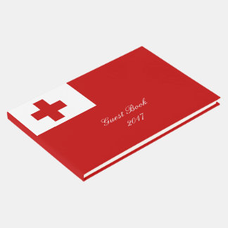 Tonga Island Flag Red Cross Guest Book
