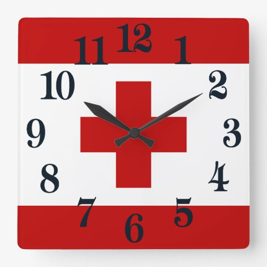 Tonga Island Flag Red Cross Wallclock