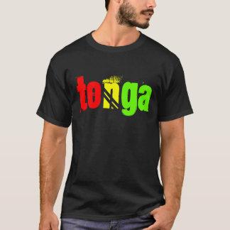 Tonga named tee in Reggae colors