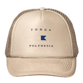 Tonga Polynesia Alpha Dive Flag Trucker Hat