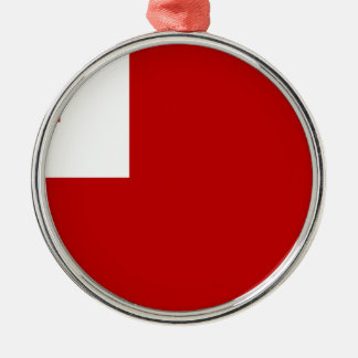 Tonga Silver-Colored Round Ornament