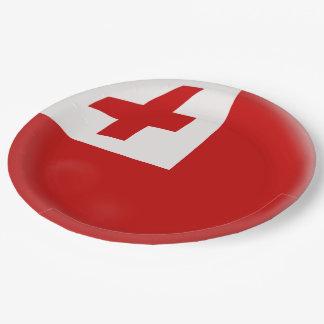 Tonga Tongan Flag Paper Plate