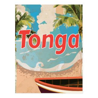 Tonga Vintage vacation Poster Postcard