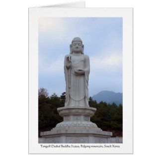 Tongail-Daebul stone Buddha Statue, South Korea Card