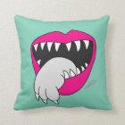 Tongue Got Your Cat Pillow! by Jesse Lebon Throw Pillow