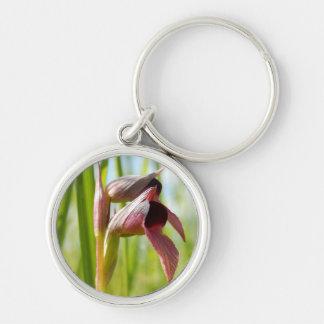 Tongue Orchid Key Ring