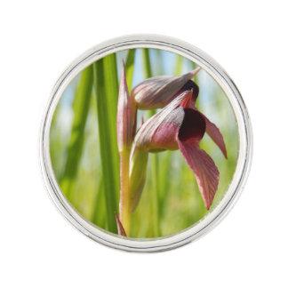 Tongue Orchid Lapel Pin