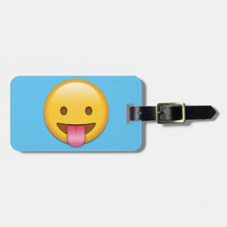 Tongue-Out Cheeky Emoji Luggage Tag