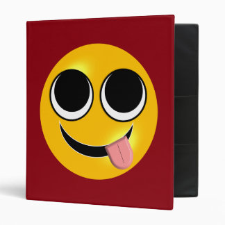Tongue Out Emoji Binders