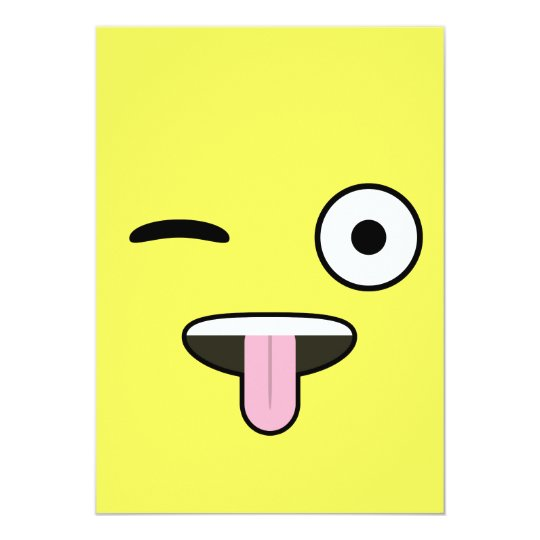 Tongue out Emoji Card