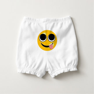 Tongue Out Emoji Diaper Cover