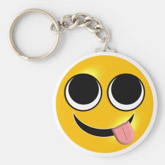 Tongue Out Emoji Keychain