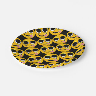 Tongue Out Emoji Paper Plate