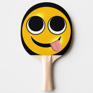Tongue Out Emoji Ping Pong Paddle