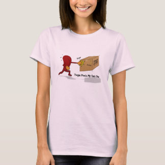 Tongue Punch My Fart Box (with text) T-Shirt
